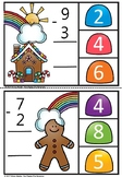 Gingerbread Subtraction clipcards