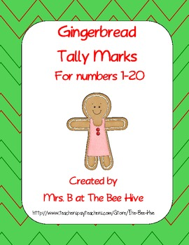Gingerbread Tally Marks for Numbers 1-20