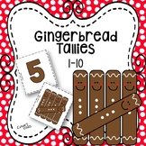 Gingerbread Tally Matching 1-10