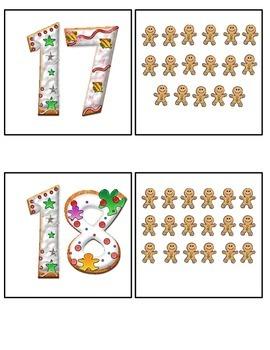 Gingerbread Teen Number Match