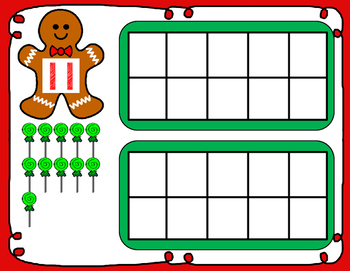 Gingerbread Teen Number Play Dough Mats