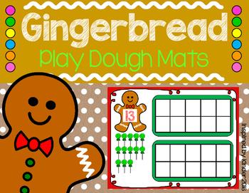 Gingerbread Teen Number Play Dough Mats
