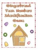 Gingerbread Teen Numbers Identification Game