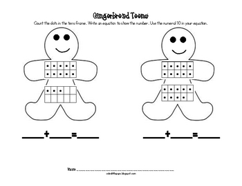 Gingerbread Teen Numbers Record Sheet