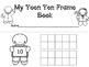 Gingerbread Teen Ten Frame Book-Making Freebie