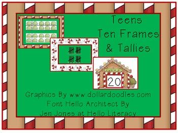 Gingerbread Teens, Ten Frames and Tallies