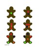 Gingerbread Template - For Felt, Foam, Do-A-Dot and other holiday crafts!
