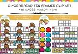 Ten Frame Gingerbread Clip Art