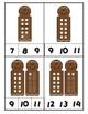 Gingerbread Ten Frame Clip Cards through 20