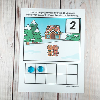 Gingerbread Ten Frame Game | Pre-K + K Math