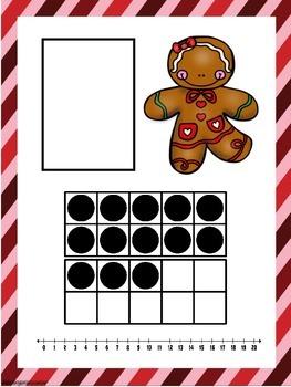 Gingerbread Ten Frame Number Match 1-20