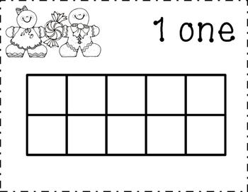Gingerbread Ten Frame for Kindergarten