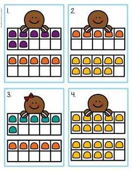 Gingerbread Ten Frames Math Center