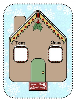 Gingerbread Tens and Ones Mat! {Winter/Christmas}