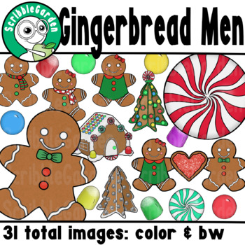 Gingerbread Theme Holiday ClipArt