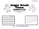 Gingerbread Theme - Write Numbers 0-20 (MCC.K.CC.3)