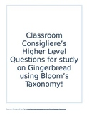Gingerbread Theme with higher level thinking Blooms Taxono