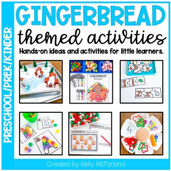 Gingerbread Themed Activities - Preschool/Pre-K/Kindergarten