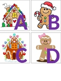 Gingerbread Themed Alphabet Letters & Numbers