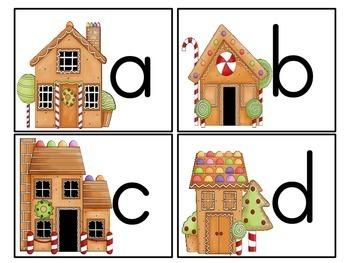 Gingerbread Themed Alphabet Match-Up