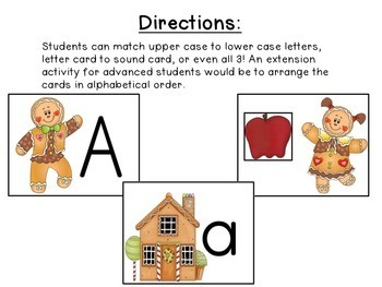 Gingerbread Man Activities: Letters & Sounds!