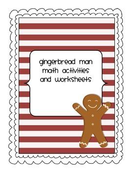 Math Worksheets gingerbread man math worksheets : Gingerbread Themed Math Activities and Worksheets by MrsHildebrand ...