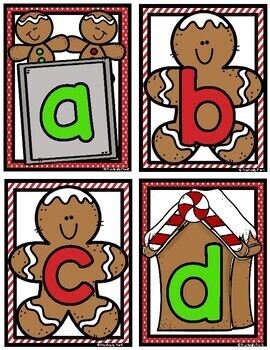Gingerbread Themed Salt Tray Writing Task Cards
