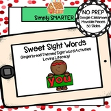 Gingerbread Themed Sight Word Activities For GOOGLE CLASSROOM