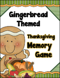 Gingerbread Themed - Thanksgiving Memory / Concentration Game