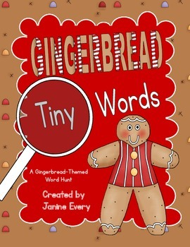 Gingerbread Tiny Word Hunt