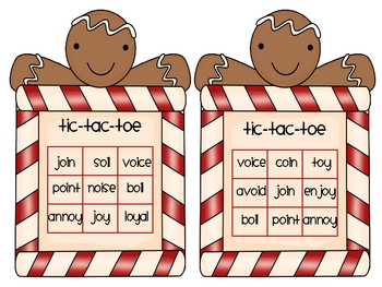 Gingerbread Tic-Tac-Toe Game (oi, oy)