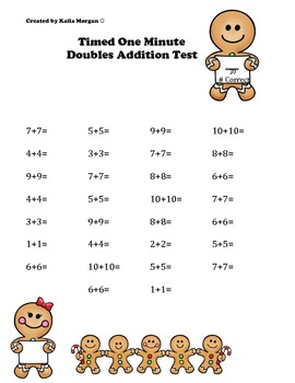 Gingerbread Timed Math Facts