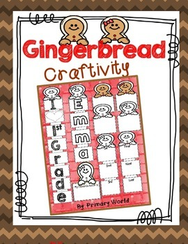 Gingerbread Writing Craftivity,Common Core Writing Christmas
