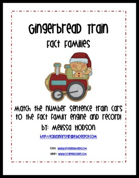 Gingerbread Train Fact Families