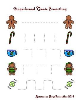 Gingerbread Treats PreK Printable Learning Pack - Part 1
