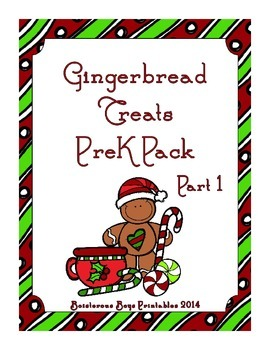 Gingerbread Treats PreK Printable Learning Pack - Part 1