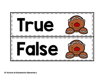 Gingerbread True or False  {Freebie!}