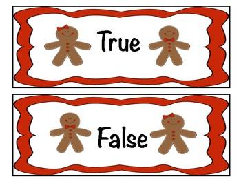 Gingerbread True or False Sort