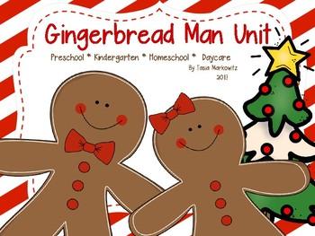 Gingerbread Unit: Preschool, Kindergarten, Homeschool, 1st