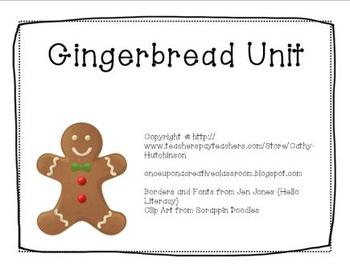 Gingerbread Unit for Early Elementary