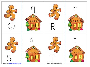Gingerbread Upper and Lower case match game