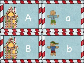 Gingerbread Uppercase and Lowercase Alphabet Game