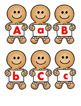 Gingerbread Uppercase to Lowercase Letter Matching