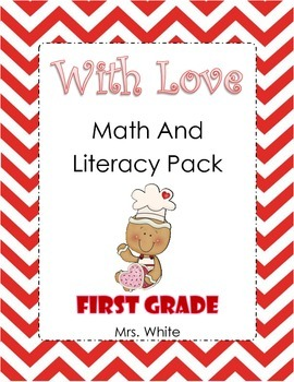 Gingerbread Valentine's With Love Math and Literacy Pack