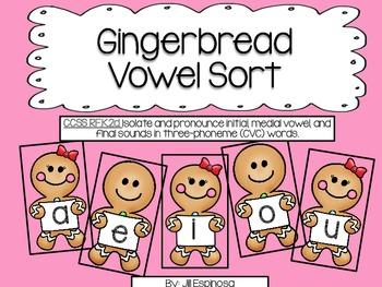 Gingerbread Vowel Sort