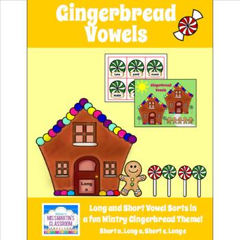 Gingerbread Vowels Game - Gingerbread-Themed Language Arts Center