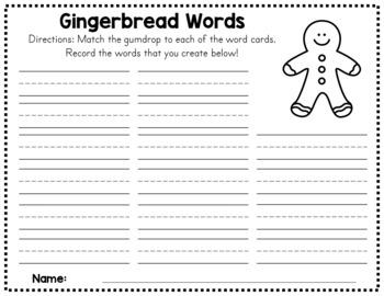 Gingerbread Winter CVC Matching