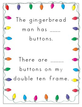 Gingerbread/Winter themed Numeracy ten frame Activities for Counting