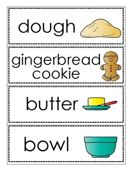 Gingerbread Word Cards