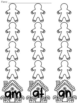 Gingerbread Word Families